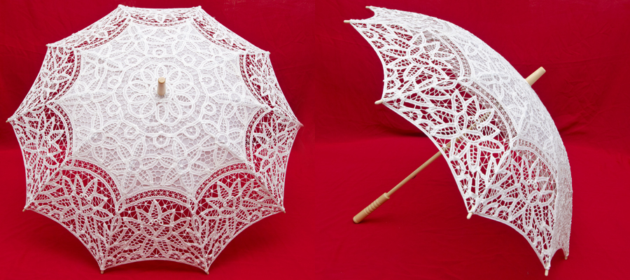 Зонты своими руками из кружева