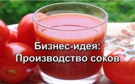 Бизнес идеи: Производство соков