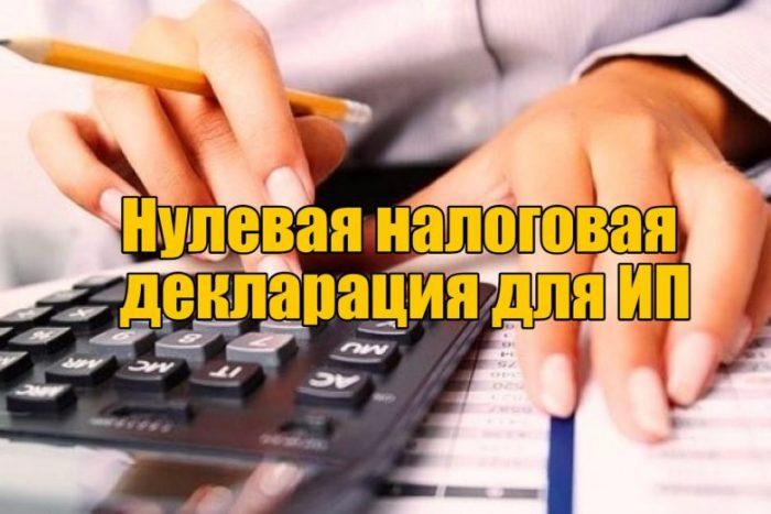 Как сдать нулевую налоговую декларацию для ИП