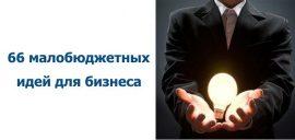66 малобюджетных идей для бизнеса