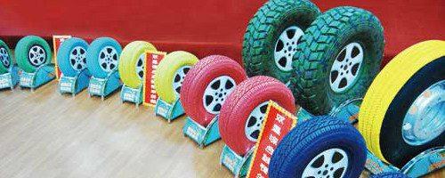 Бизнес идея: Необычные цветные шины для автомобилей